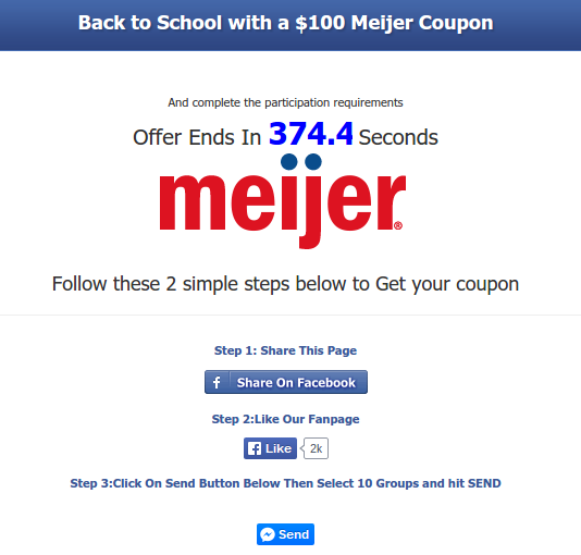 Meijer coupons in mail